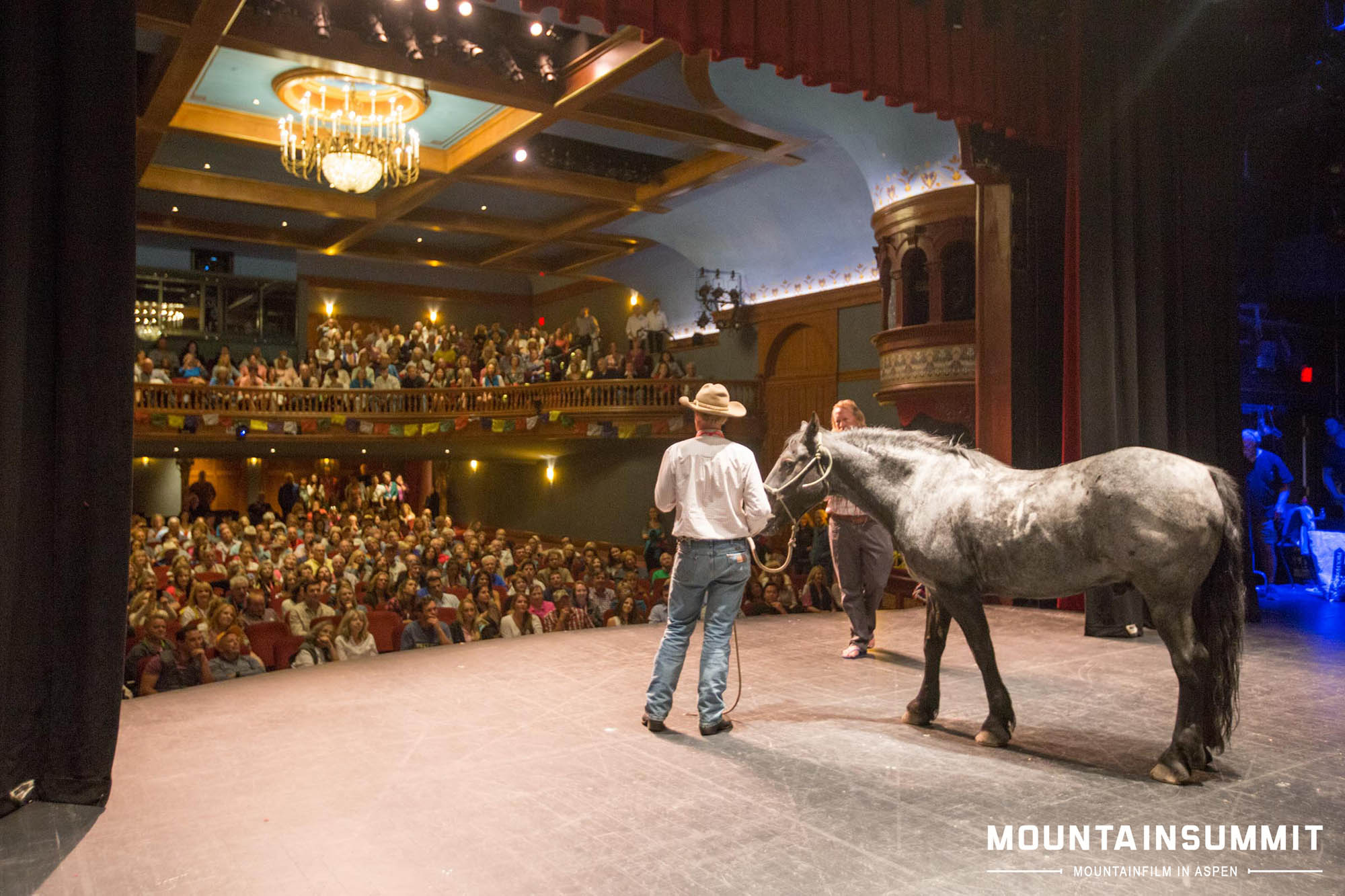 Ben Masters led Tuff on stage after the closing night screening of Unbranded. Jordan Curet photo.