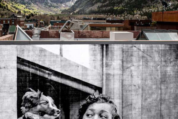 2021 Mountainfilm Mural by JR