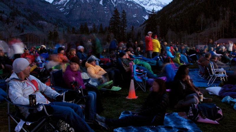 Mountainfilm's new Base Camp Outdoor Theater is listed among Nat Geo's top free Movie Nights