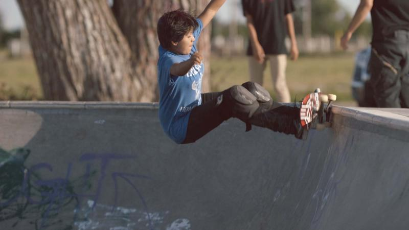 Skateboarding in Pine Ridge
